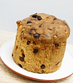 Whole Panettone on a Plate