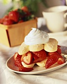 Single Serving of Strawberry Shortcake