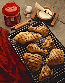 Assorted Pieces of Chicken on the Grill