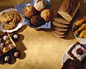 Assortment of Baked Goods and Desserts