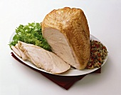 Partially Sliced Turkey Breast