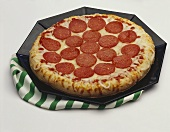 A Thick Crust Pepperoni Pizza