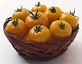 Yellow Tomatoes in a Basket