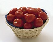 Roma Tomatoes in a Basket