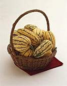 Delicata Squash in a Basket