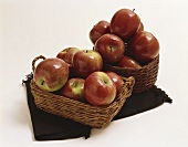 Two Baskets of Red Apples