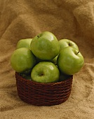 Granny Smith Apples in a Basket