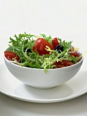 Frisee Salad with Tomato and Olives