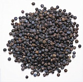 Pile of Juniper Berries on a White Background