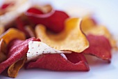 Close Up of Assorted Vegetable Chips