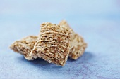 Three Pieces of Shredded Wheat Cereal