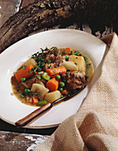 Bowl of Hearty Lamb Stew