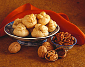 Steamed Chinese Buns with Walnuts