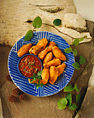 Chicken Wings with Salsa