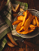 Homemade French Fries in Strainer