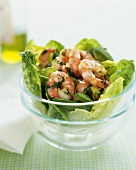 Shrimp, Basil and Avocado Salad