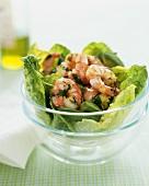 Shrimp, Basil and Avocado Salad