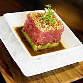 Tuna Tartar with Avocado Base