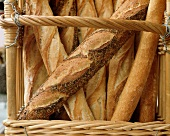 Many Baguettes in a Basket