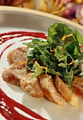 Slices of Veal Forcemeat with Greens