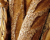 Close Up of Seeded Baguettes