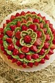 Whole Strawberry Kiwi Tart