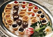 Tray of Bite-Size Desserts