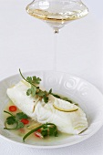 Spicy Butter Steamed Bass with Ginger and Lime Sauce