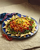 Large Chicken Taco Salad on a Platter