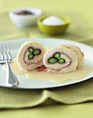 Chicken Roulades with Ham and Asparagus