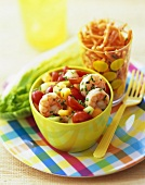 Shrimp Salad with Corn and Grape Tomatoes