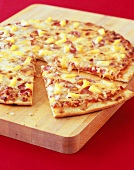 Hawaiian Pizza, One Slice Pulled Out