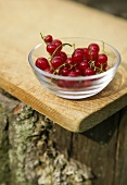 Red Currants in a Small Glass Bowl