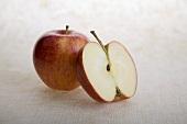 Whole Apple with Half an Apple