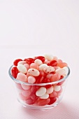 Small Bowl of Valentine's Day Jelly Beans