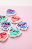 Many Assorted Love Icing Hearts