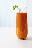 Glass of Fresh Organic Carrot Juice