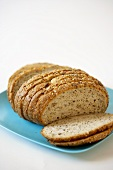Sliced Loaf of Organic Seven Grain Whole Wheat Bread