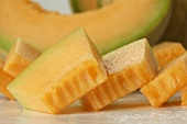 Slices of Cantaloupe, Close Up