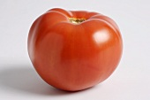 Whole Red Tomato on a White Background