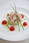 Octopus Ceviche with Avocado Mousse and Cherry Tomatoes