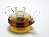 Tea Infusing in a Glass Tea Pot