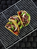 Tacos with grilled loin steaks