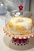 Whole Angel Food Cake in a Covered Cake Dish