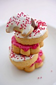 Stack of Frosted Pressed Cookies