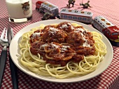 Kids Meal of Spaghetti and Meatballs
