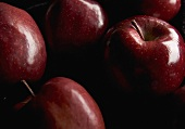 Many Red Delicious Apples; Close Up