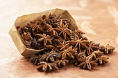 Wooden Container Tipped Spilling Star Anise