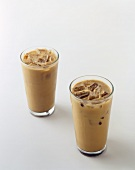 Two Glasses of Iced Coffee
