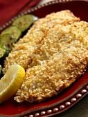Panierte Tilapiafilets mit Panko und Parmesan